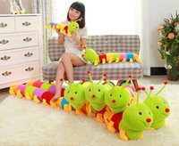 Atacado- 50CM Hot Venda Colorful Caterpillar Millennium Bug Plush Brinquedos Grande Pillow Caterpillar Kids Presentes PT021