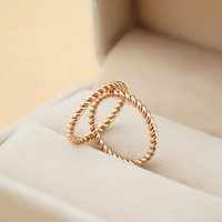 Wholesale Top Finger Rings China - Top quality 316L Titanium steel South Korea hemp flowers design ring female contracted tail and mid finger ring men and women lovers Jewelr