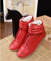 Wholesale Rubber Express - Wholesale-2017 new Buy Genuine Leather Maison Martin Margiela 2017 MMM Brand Casual Flat High-top Sneakers 0 Express size 38-46 DHL Shippin