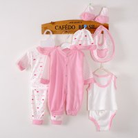 Wholesale Newborn Clothes China - Wholesale- 8 Pieces Baby gift set 0-3 months newborn clothes Unisex Baby's Sets for girls boy 100% Cotton children infant clothing china
