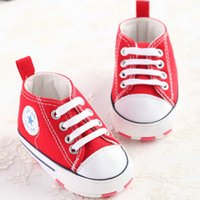 Wholesale Lovely Canvas Shoes - Baby Lovely Cute Canvas Shoes Pretty kids First Walkers Perfect for Protect foot With Cotton printing Sole 4 Colors Amazing for Gift