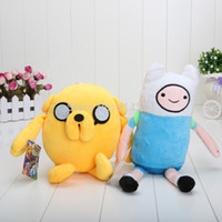 Wholesale Beemo Figure - Wholesale-2pcs lot Cartoon Toy Anime Adventure Time Finn Jake Beemo BMO soft figure plush doll
