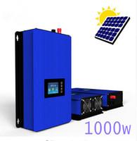 Wholesale Solar Pure Sine Inverter - 1000W battery disharge mode MPPT Solar Grid Tie inverter with limiter,pure sine wave DC22-60V 45-90V