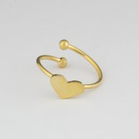 Wholesale Double Finger Adjustable Rings - GORGEOUS TALE Wedding Jewelry Heart Knuckle Rings Adjustable Double Ball Finger Rings For Women Everyday Accessories
