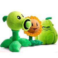 Wholesale Plants Vs Zombies Squash Plush - 30CM Plants vs Zombies Pea Shooter Sunflower Squash Plush Toys Doll Soft Plush Toy Doll Game Baby Party toys birthday gift