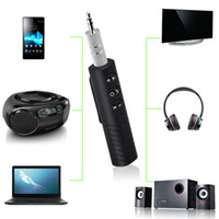 Wholesale two jack for sale - Group buy car Bluetooth Receiver Adapter Wireless Aux Receiver mm Jack Bluetooth Audio Music adapter Car Kit with Mic