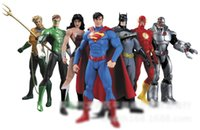Wholesale justice league wholesale - 7pcs lot Justice League Action Figures super Wonder woman man toys doll ornaments Video Game & Cartoon