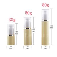 Wholesale Bottle Pump For Cosmetic Packaging - 50ml empty cosmetic airless container pump for skin care cream packaging,50g airless cosmetic travel bottles ,30g,80g available