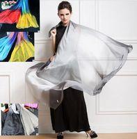 Wholesale silk muslim hijab - Silk Summer Scarf&Shawl Gradient Women Muslim Hijab Shawl Long Soft Wrap Beautiful Scarves 3 color 180*90cm LJJK723