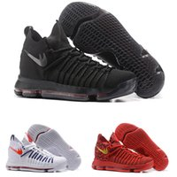 Vente chaude KD9 Mens Basketball Chaussures pas cher KD 9 Oreo Gris Loup Kevin Durant 9 s Hommes Formation Sport Baskets Warriors Maison US Taille7-12