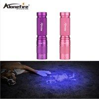 365nm taschenlampe großhandel-AloneFire SV001 CREE LED Ultraviolett Taschenlampe Hohe Qualität Lila UV 365nm Glühlampen Für Banknoten Gefälschte Pet urin