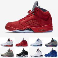 Wholesale Real Bands - Classic Retro 5 V Basketball Shoes Men Women Sneakers Authentic Oreo Retro Shoes J5s V Sports Homme Zapatos Real Replicas US 5.5-13
