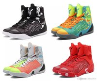 Wholesale High Quality Kobe Elite Black Mamba Blackout BHM Christmas Men Basketball Shoes KB IX High Sneakers With Box