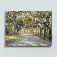 Wholesale nude abstract oil painting canvas resale online - Framed Southern Oaks Art Pure Handpainted Landscape ART Oil Painting On High Quality Canvas Multi customized size Available