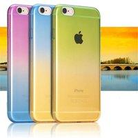 Wholesale Iphone 4s Case Rainbow - i7  Plus Mobile Phone Cases Fundas For iPhone 7 Plus 6 6S 5 5S SE 4 4S Cover Soft TPU Silicon Transparent Rainbow Gradient Case