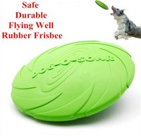 Wholesale Solid Rubber Dog Toys - Eco-friendly PET product natural rubber Material dog toy Frisbee Dog Training