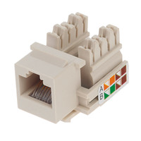 Wholesale Information Outlets - 150pcs AMP Type Keystone Module Cat5e Information Outlets Cat 5e Networking Jack connector Modules with screws covers plastic nails