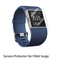Wholesale Computer Screen Film - Wholesale- 3* Clear LCD PET Film Anti-Scratch Screen Protector Cover for Smart Watch Computer Fitbit Surge