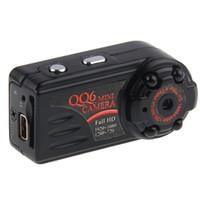 Wholesale thumb camera resale online - Night Vision Mini Camera P Audio Video Recorder Sports DV Car DVR Mini Camcorder Security Thumb mini DV black QQ6
