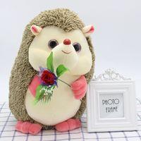 Wholesale Cute Hedgehogs Doll - hedgehog cute plush toy doll home decoration dolls animal modeling doll birthday gift wedding free shipping