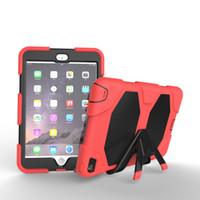 iphone stand sahibi ipad toptan satış-Askeri aşırı ağır darbeye dayanıklı durumda standı tutucu ipad hava 2 ipad mini 1234 ipad 234