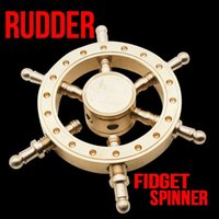 2017 Bateau Rudder Hand Spinner Edc Decompression Toy Helmsman Fidget Spinner Conception de volant Fidget Toy Classic Style