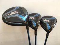 Wholesale Fairway Golf Heads - Brand New Golf Clubs 3PCS XR16 Wood Set Golf Woods Driver + Fairway Woods Graphite Shaft Regular&Stiff Flex With Head Cover