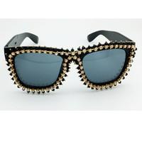 Wholesale Diamond Eyewear Wholesale - Wholesale-2016 Newest Luxury Brand Designer Square Sunglasses Women Shiny Diamond&Crystal Sun Glasses Elegant Lady Eyewear Female Shades