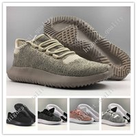 Wholesale Denim Boots For Women - Free Shipping Cheap Hot Sale Tubular Shadow 350 3D Running Shoes for Men sneakers Women Knit Core Black White Cardboard Sneakers 350 Boots