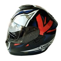 Wholesale Casco Helmets - 6 Colors Shoei GT-Air Double Lens Motorcycle Full Face Helmet Japan Approval Motor Street Racing Casco Casque