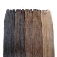 hint saç sapkınlığı toptan satış-Brezilyalı Saç Demetleri Insan Saç Örgüleri atkı Tam Manikür Remy Hint Perulu Malezya Saç Uzantıları Hiçbir Arapsaçı Üzerinde Süren 12 ay