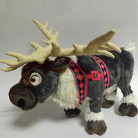 Wholesale Cute Deer Stuffed Animals - Wholesale- Free Shipping 38cm Cute Deer Cartoon Plush Reindeer Toys Doll Milu Deer Stuffed Animals Movie Cartoon Christmas Gift Toy for Kid