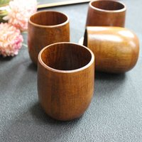 Wholesale High quality nature Wood Tea Cup Wooden Cup Eco friendly Pot bellied Cup ZAAF775