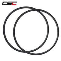 Wholesale 24mm carbon tubular - 700C CSC 24mm Clincher tubular carbon rim Super light carbon bike rimset Rim Only Free Shipping