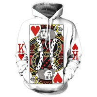 Wholesale Tattoo Clothes Fashion - LiZhiYang sweatshirt Hoodie Men or women Cool creative 3D print king of hearts tattoo hot Style Autumn Winter Streetwear Clothing