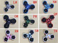 ingrosso giocattolo superiore punti-Camouflage Fidget Spinner Triangle Tri Spinner Giocattoli EDC per autismo e bambini ADHD DecompressionToys Tri-Spinner Hand Spinners