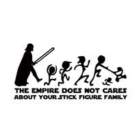 Wholesale Stick Windshield Car - The Empire Does Not Cares About Your Stick Car Styling Figure Family Star Wars Sticker Vinyl Decal Decor Jdm