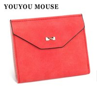 YOUYOU MOUSE Nouveau portefeuille de style Short 3 Fold Solid Color Womens Money Portefeuilles Multi-Functional Butterfly Pattern Small Purse
