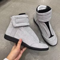 Wholesale Massage C - Sliver Sneakers Maison Martin Margiela MMM Shoes Future Kanye West Sneakers High Top Luxuries Genuine Leather Men's Fashion Casual Shoes