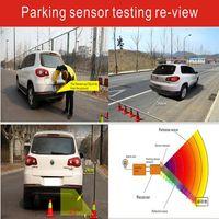 Wholesale Auto Dvd Monitor - DVD parking sensor PZ621 four sensors auto car camera human voice Bibi sound alarm 64 colors to choose Free ePacket