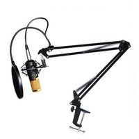 Wholesale Holder Kit Filters - New Brand Audio Sound Recording Condenser Studio Microphone BM800 Kit Mic Wind Screen Pop Filter and Fold Stand Holder for Singing