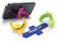 таблетка одним касанием оптовых-Mini Touch U One Touch Силиконовая подставка Кольца для пальцев Универсальный портативный держатель телефона для iPhone 6 5S 7 Samsung Tablet PC