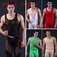 Wholesale Top Mens Mesh Underwear - Men's Sleeveless Thermal underwear Tank top New Summer Mens T-Shirts Mesh Gauze Undershirt Spaghetti Strap Slim Muscle Vest