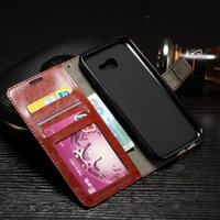 Wholesale Horse Cases - For Samsung Galaxy NOTE8 A3 2017 A5 2017 A7 2017 A320 A520 Retro Crazy Horse Wallet Leather Flip Case Purse Card Stand Phone Skin Cover 1pcs