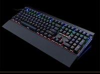 Wholesale Wire Shaft - Backlit Gaming Genuine Mechanical Keyboard USB wired keyboard plug shaft 108 key mechanical keyboard light