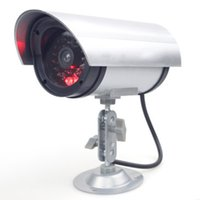Wholesale Led Theft - Outdoor Anti-theft High Simulation Surveillance Camera High Simulation Gun Type Monitor False Camera 1.5V AA Battery LED Flicker Light DHL