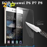 Wholesale Huawei Ascend P6 Protective - Wholesale-9H Tempered Glass For huawei Ascend P8 lite P8 P7 P6 Screen Protector Oleophobic Coating Explosion-Proof Protective Film