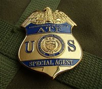 Wholesale Antique Lapel Pins - The United States Bureau of alcohol agents US ATF metal Badge DEPARTMENT OF JUSTICE ATF SPECIAL AGENT METAL BADGE LAPEL PIN Halloween