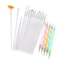 Wholesale brush bundle - Wholesale- 1Set Professional Nail Brushes Design Painting Nail Art Dotting Tools Set Pen Brush For Manicure Bundle Kit Nail Tools Manicura
