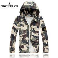 Wholesale Korea Men Coat Styles - 2017 the latest style spring island and autumn newcomers South Korea Slim camouflage STONE jacket men trend coat men # 501